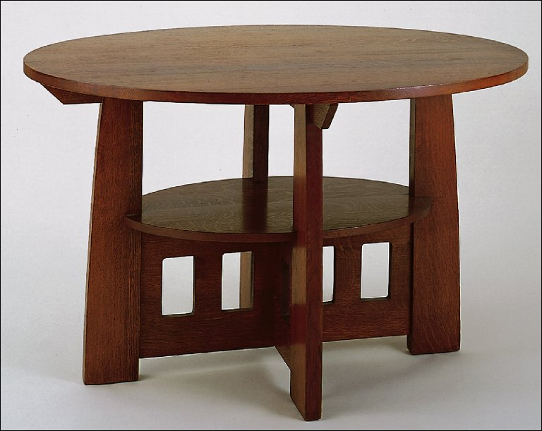 Double oval table