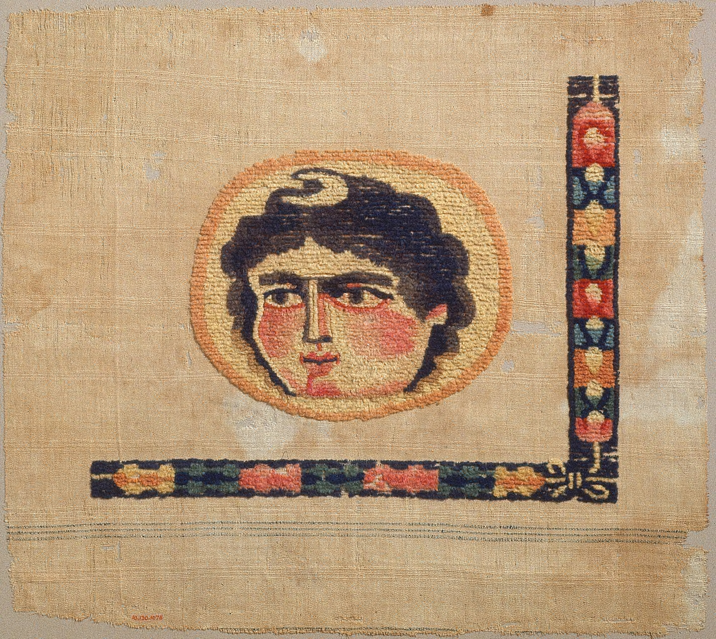 [Fragment, Personification of Luna, the Moon, or Head of Diana, Goddess of the Hunt]