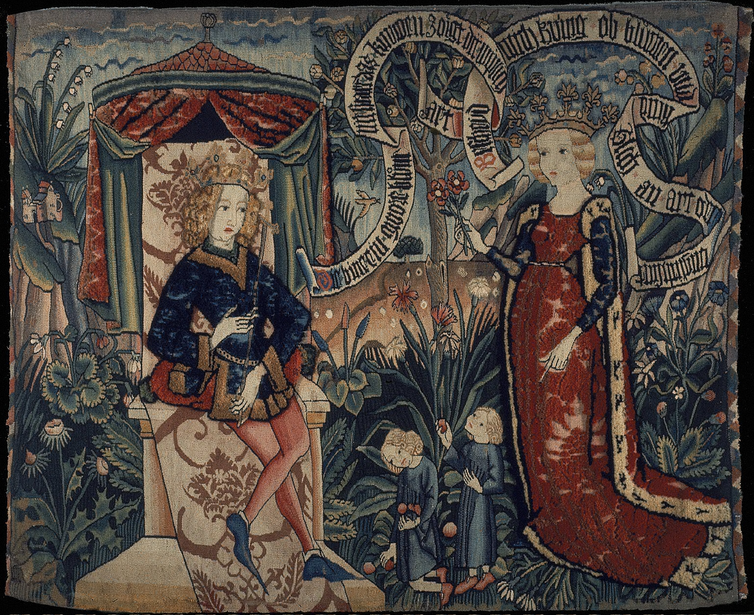 [Tapestry, The Queen of Sheba before King Solomon]