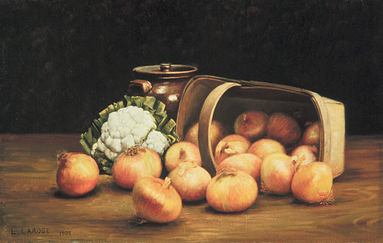 Still-life with Onions and Cauliflower