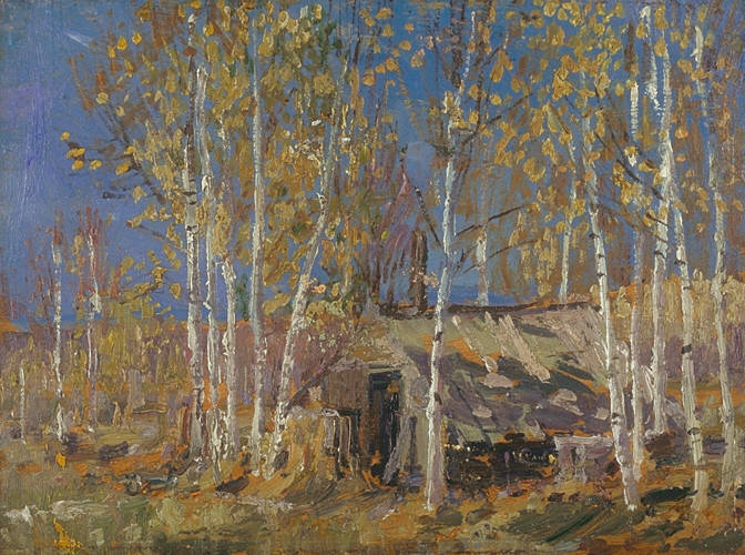 """Study for """"The Guide's Home, Algonquin"""""""