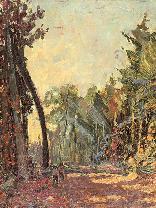 """Study for """"Road through the Bush"""""""