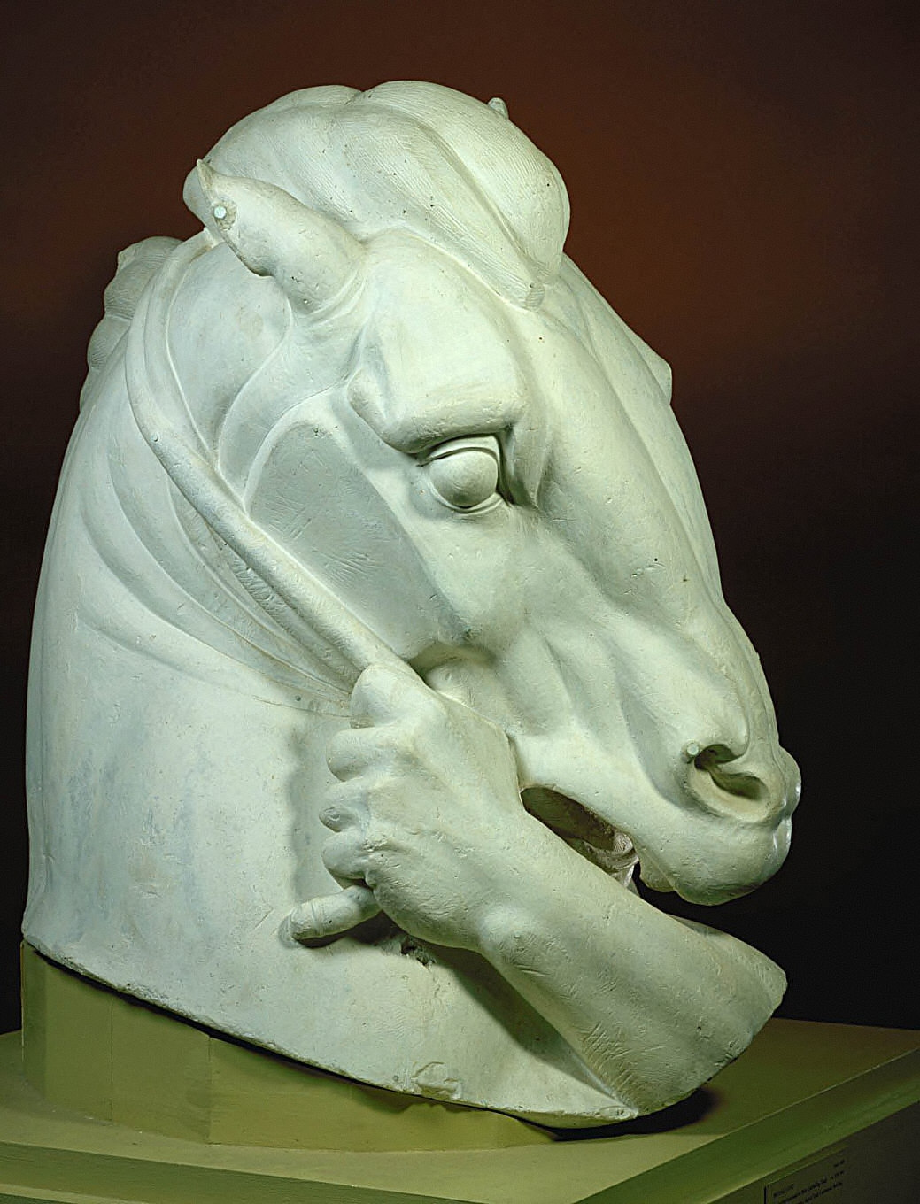 """Half-scale Working Model of the Horse's Head for """"Man Controlling Trade"""""""