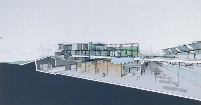 New Suburbanism Sectioned Perspective (street)