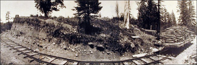 Untitled (Panorama of Narrow Gauge Railroad, Mt. Tamalpais)