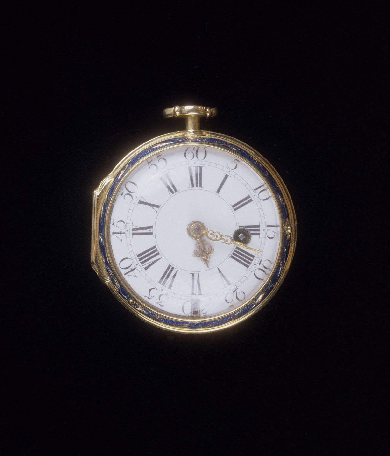 Gold and Blue Enamel Verge Watch
