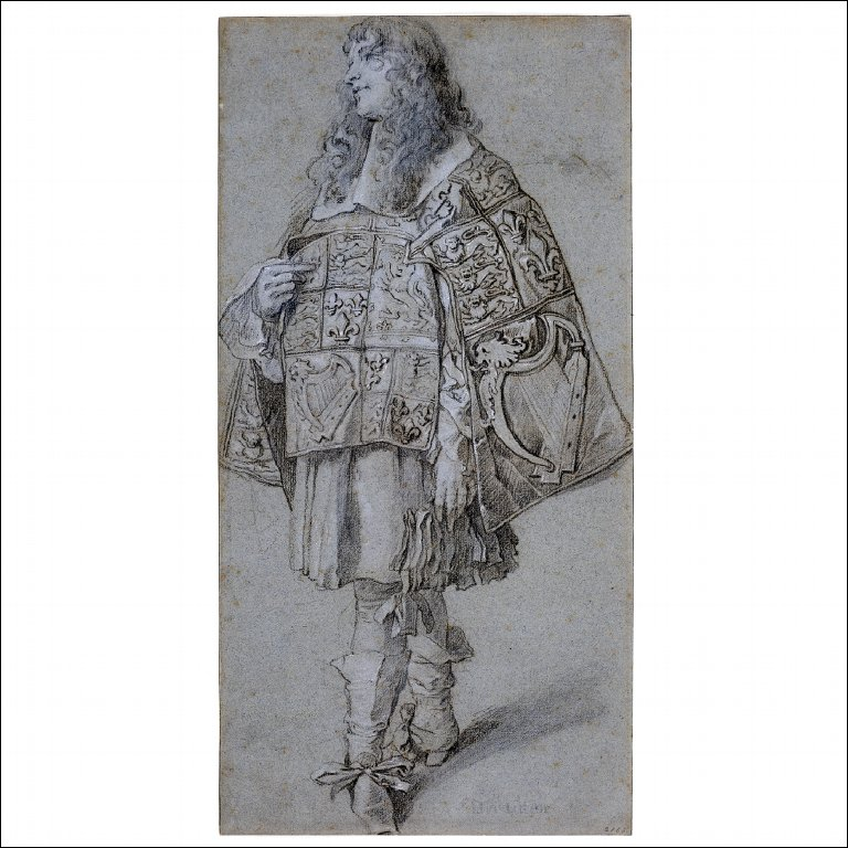 DRAWING OF A PURSUIVANT from the Garter Procession