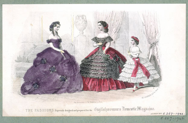 FASHION PLATE from 'The Englishwoman's Domestic Magazine'
