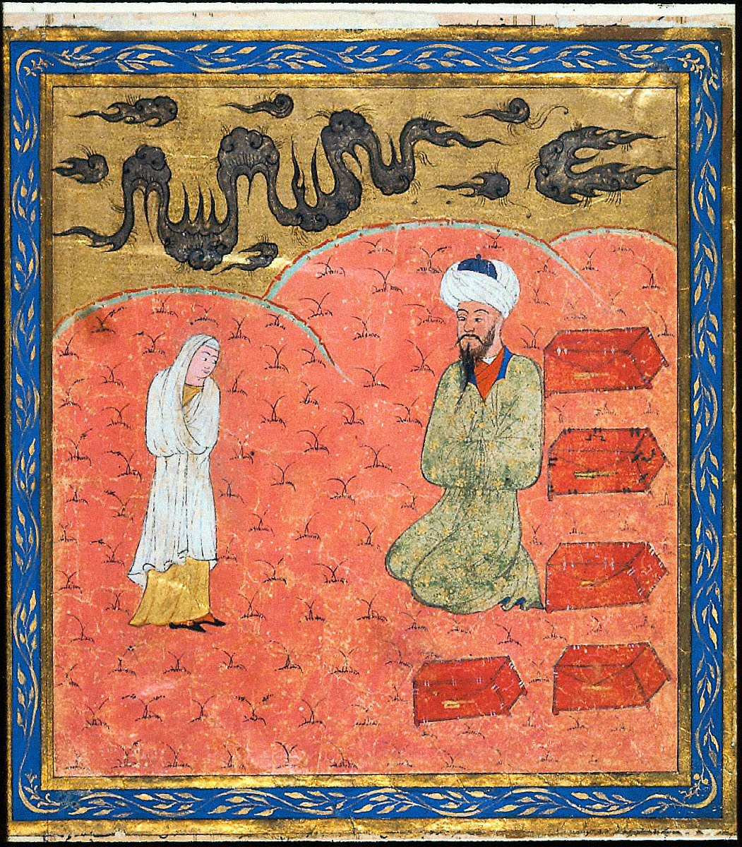 Manizha Converses with Rustam, who is disguised as a Merchant
