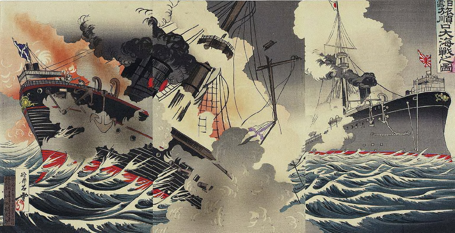 Picture of the Russo-Japanese Great Naval Battle at Port Arthur