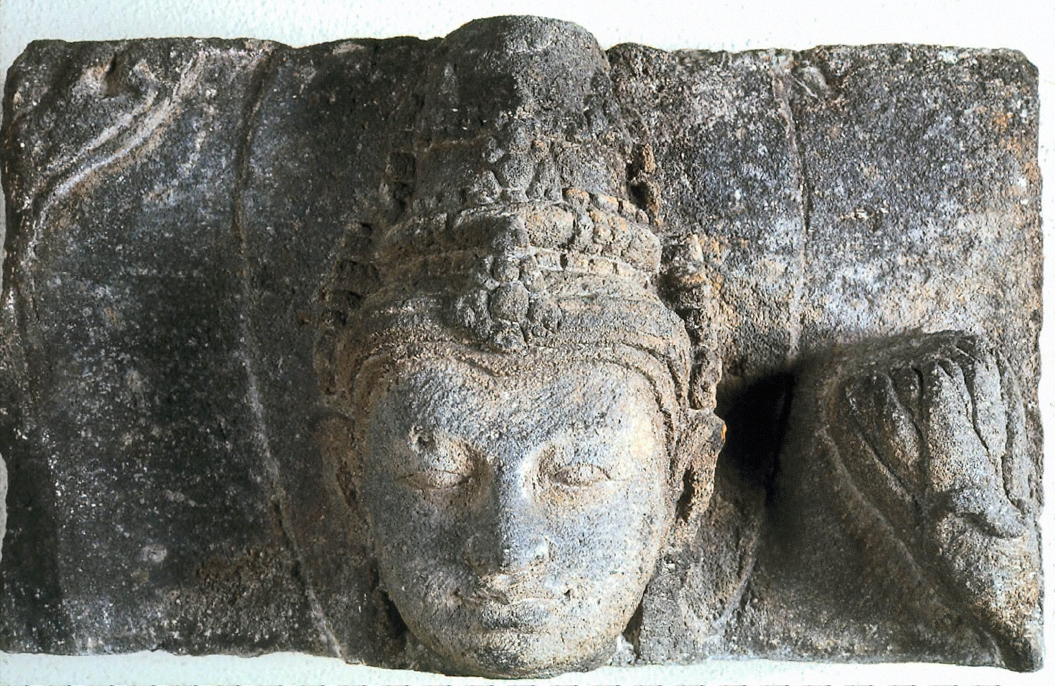 Architectural Fragment with the Head of a Bodhisattva in Relief