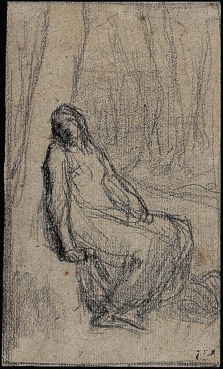 Woman Seated against a Tree (study for The Abandoned One)