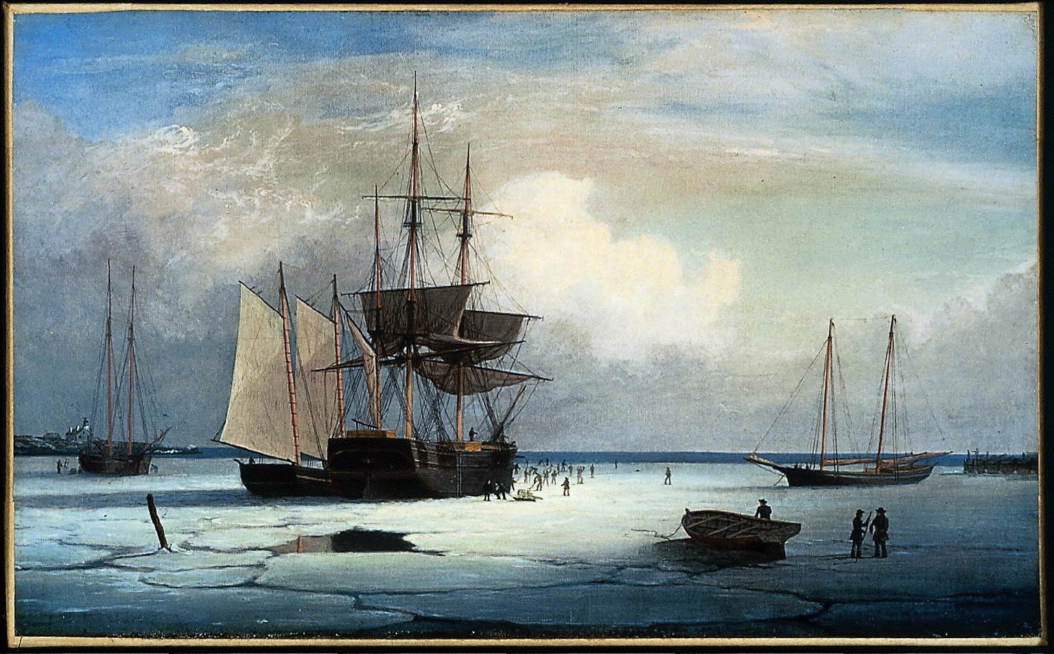 Ships in Ice off Ten Pound Island, Gloucester