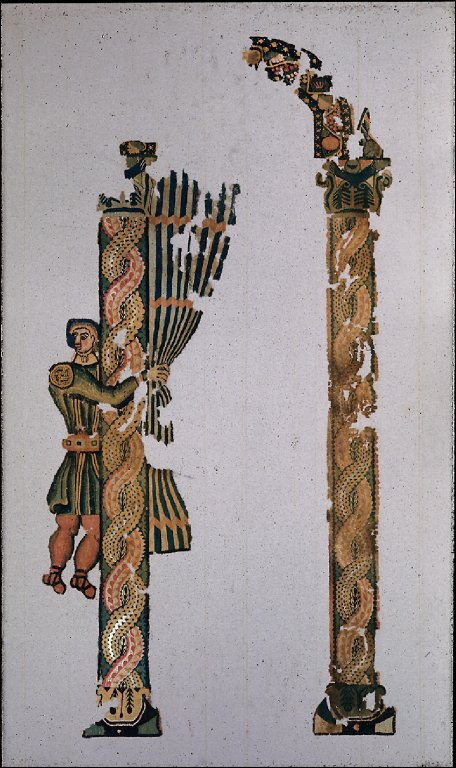 Fragment of a hanging: Ostiarius Drawing a Curtain
