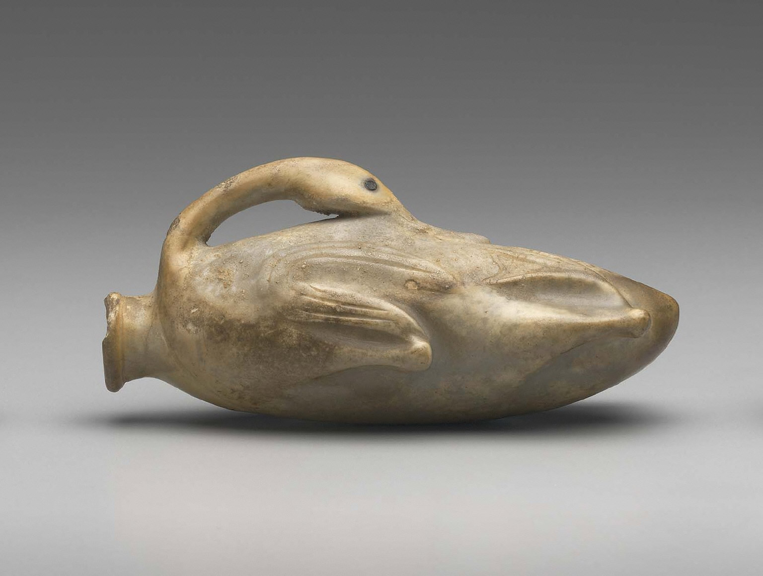 Ointment jar in the form of a goose