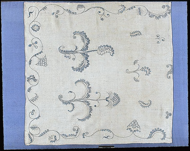 Fragment of a bed curtain