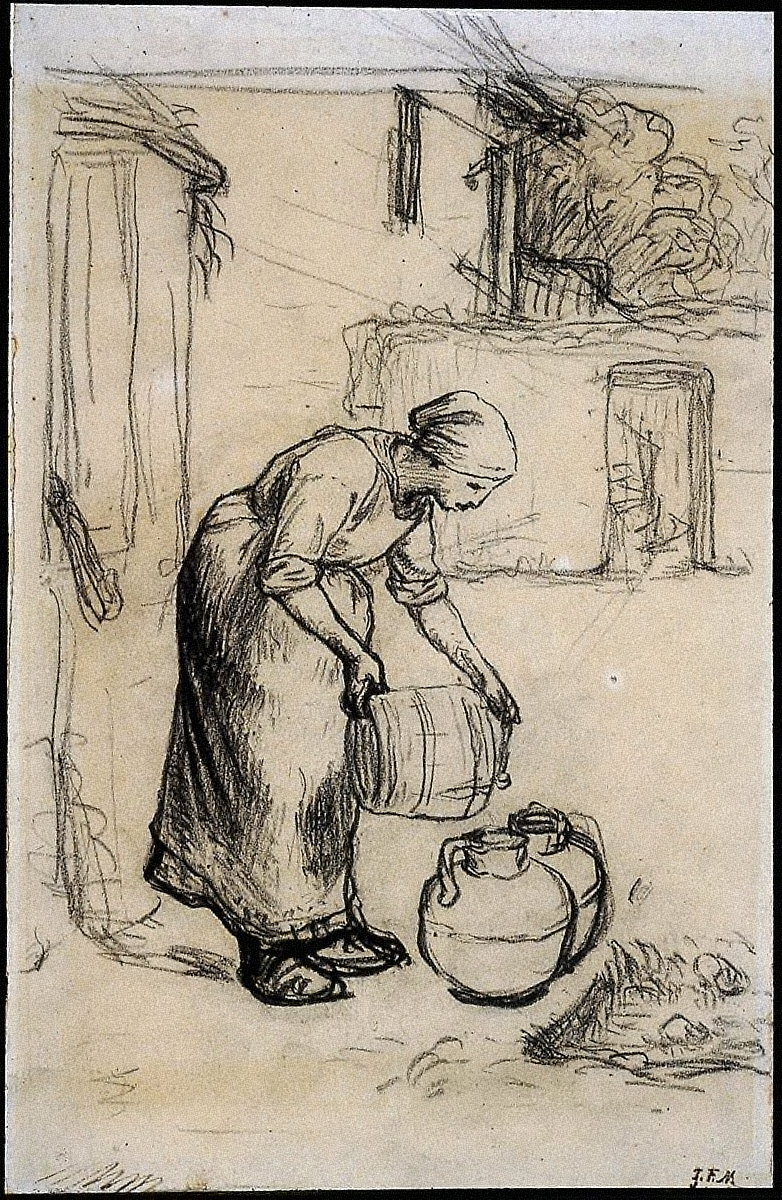 [Study for Woman Pouring Water into Milk Cans, Study for Woman Pouring Water into Milk Cans]