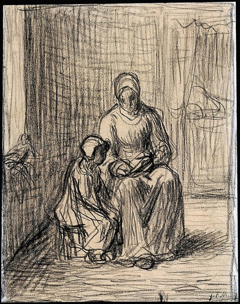 "Study for ""The Reading Lesson"""