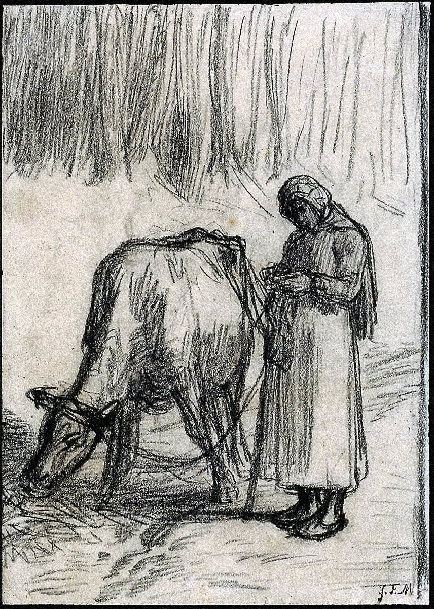 [Girl Tending a Cow, Girl Tending a Cow]