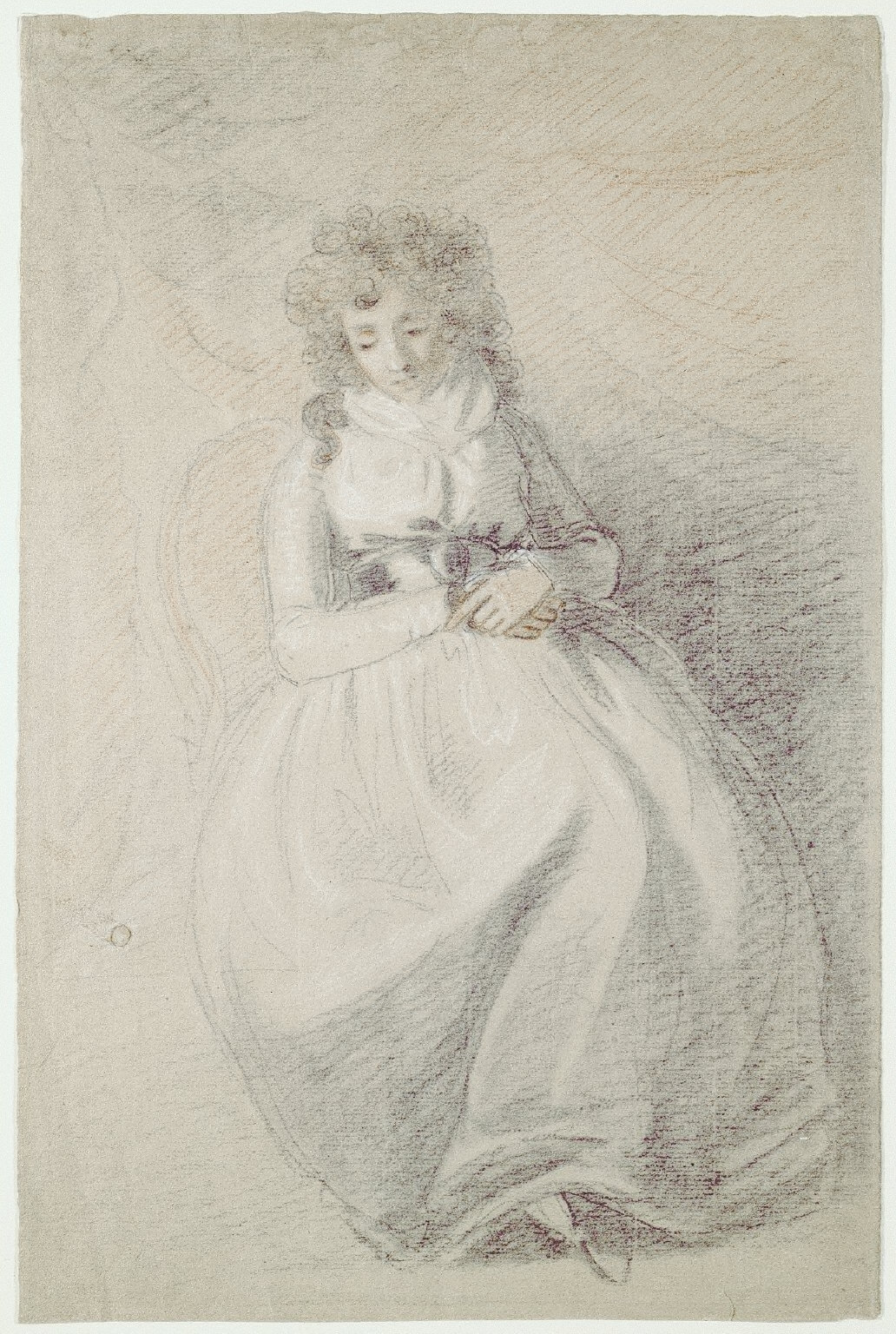 A Lady Seated in a Chair (recto)