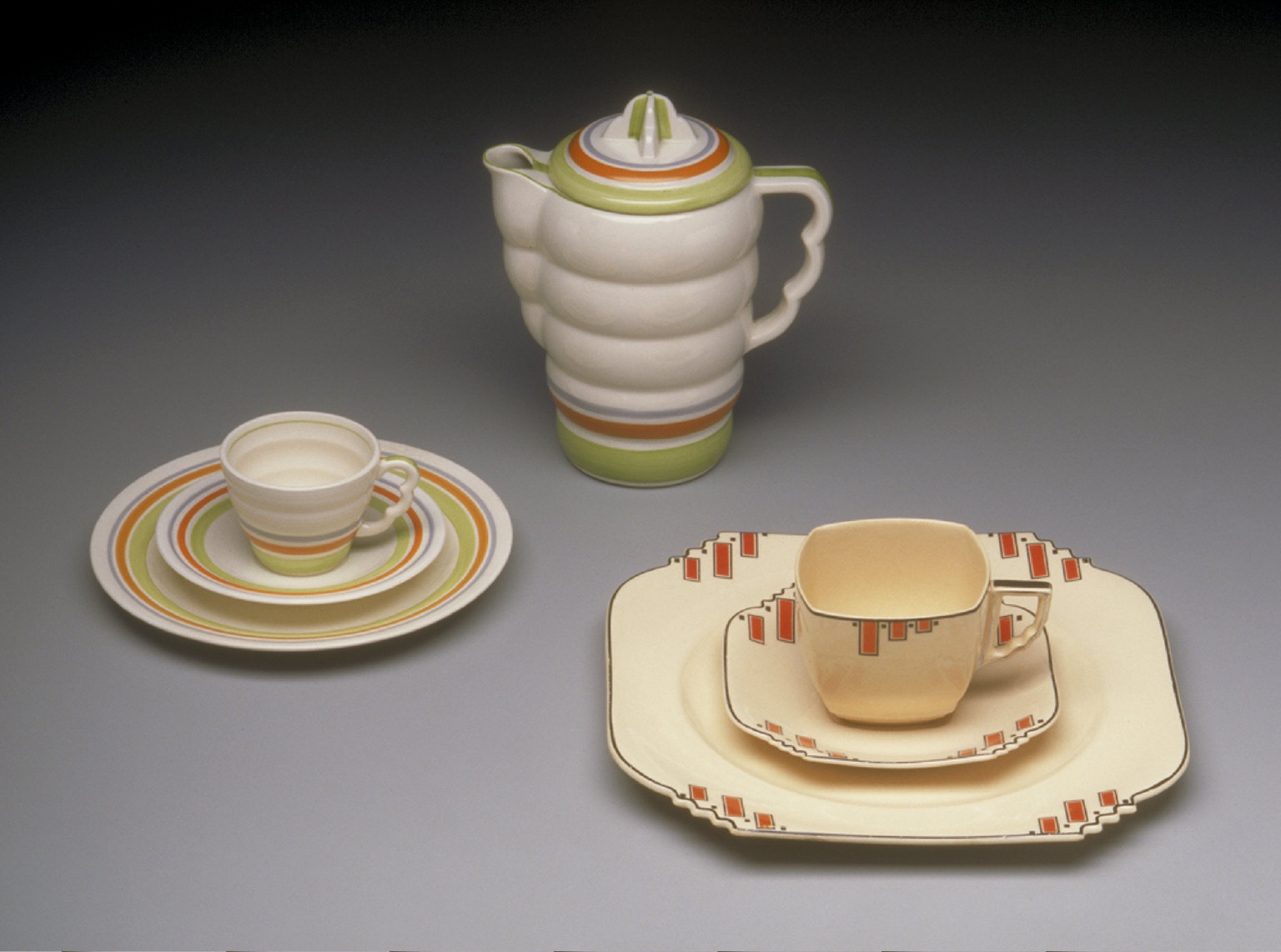 'The Aristocrat' shape coffee set with 'Ripple' pattern decoration (cup and saucer)