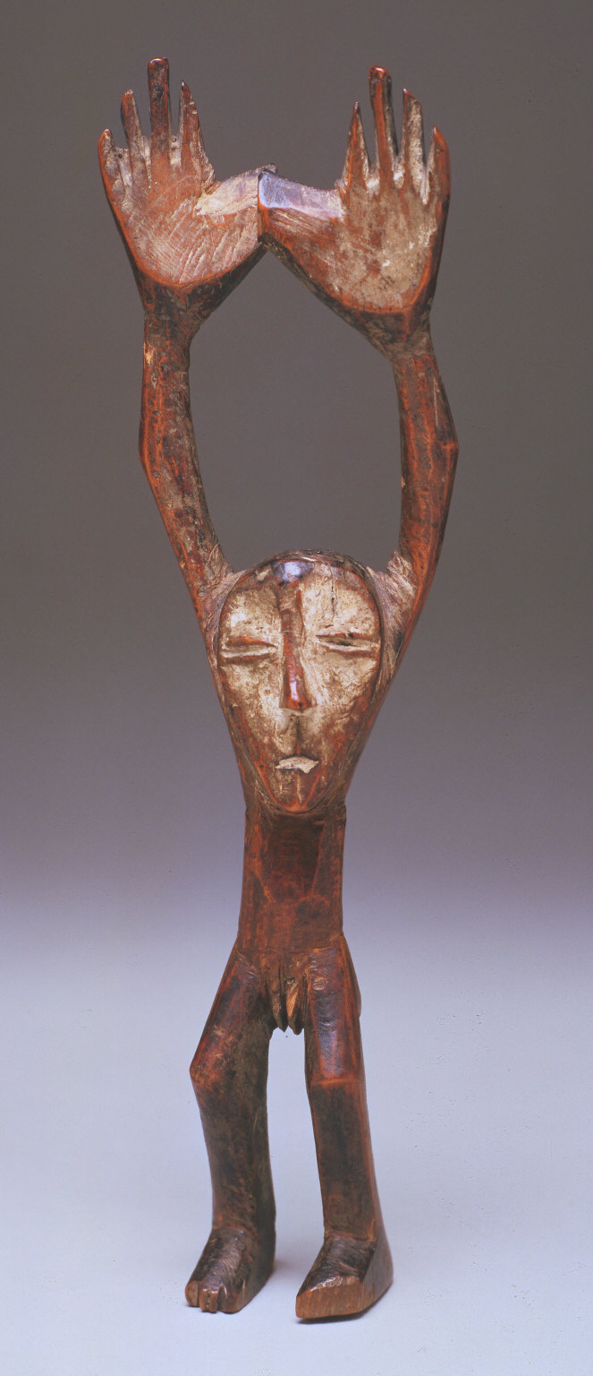 Figure with raised arms