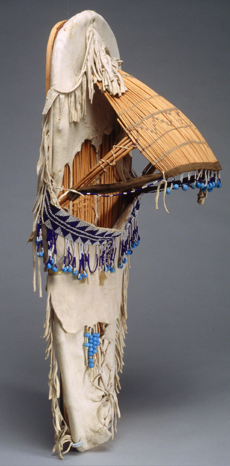 Cradle basket with beads