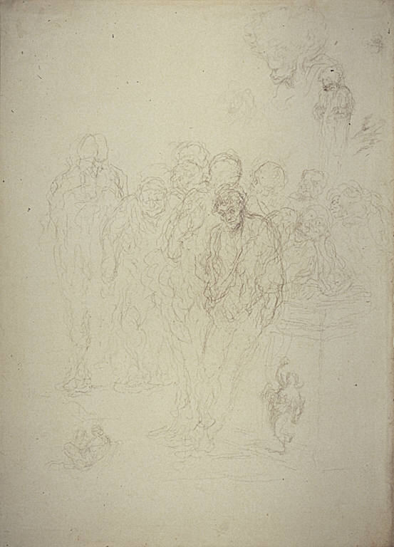 [A Group of Men, and Other Sketches, A Group of Men and Other Studies (Les Mendiants)]