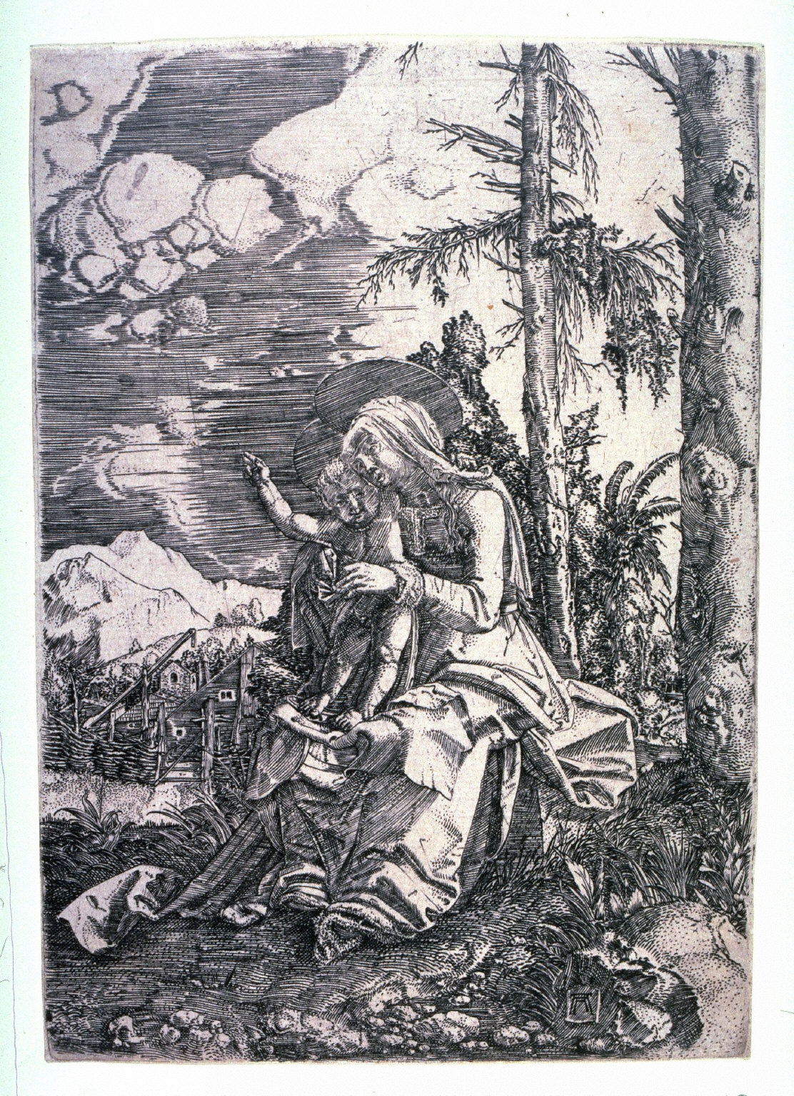 The Madonna With the Blessing Child in a Landscape