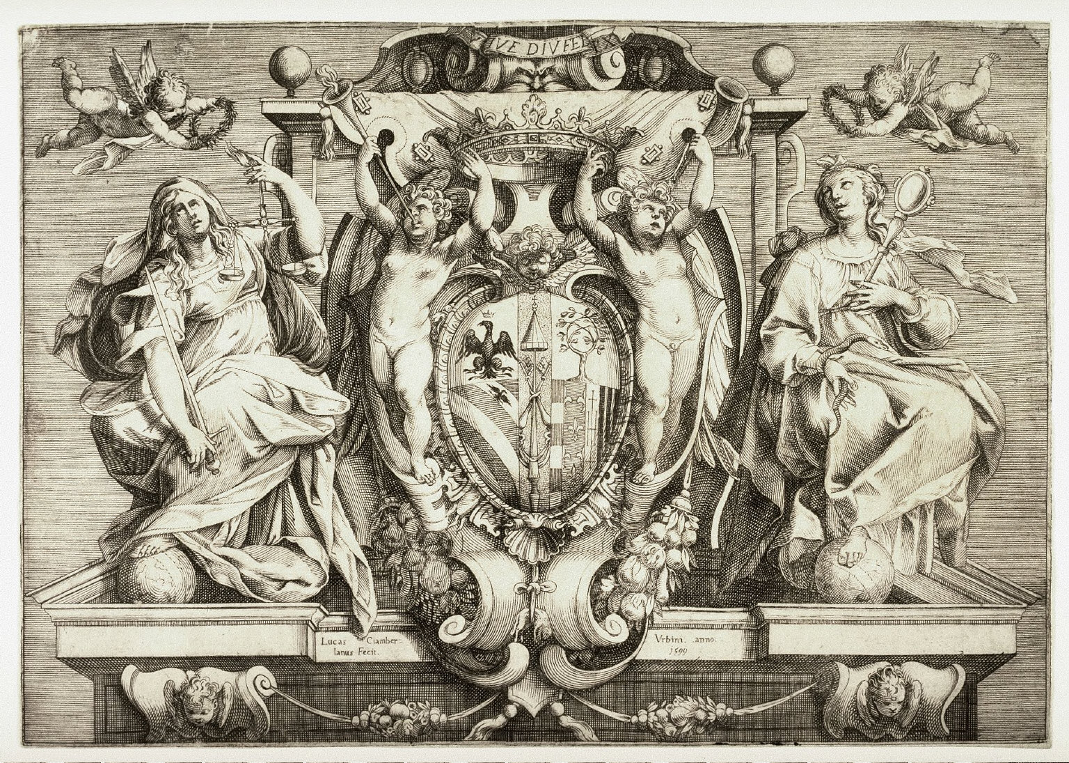 Coat-of-Arms with Virtues for the Duke of Urbino