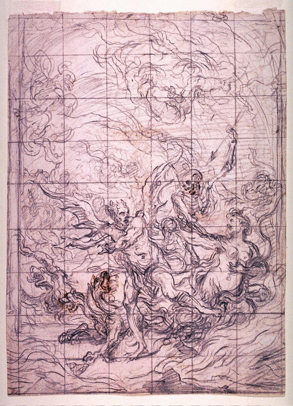 Satan at the Gate of Hell with Sin and Death, a study for the painting The Gates of Hell
