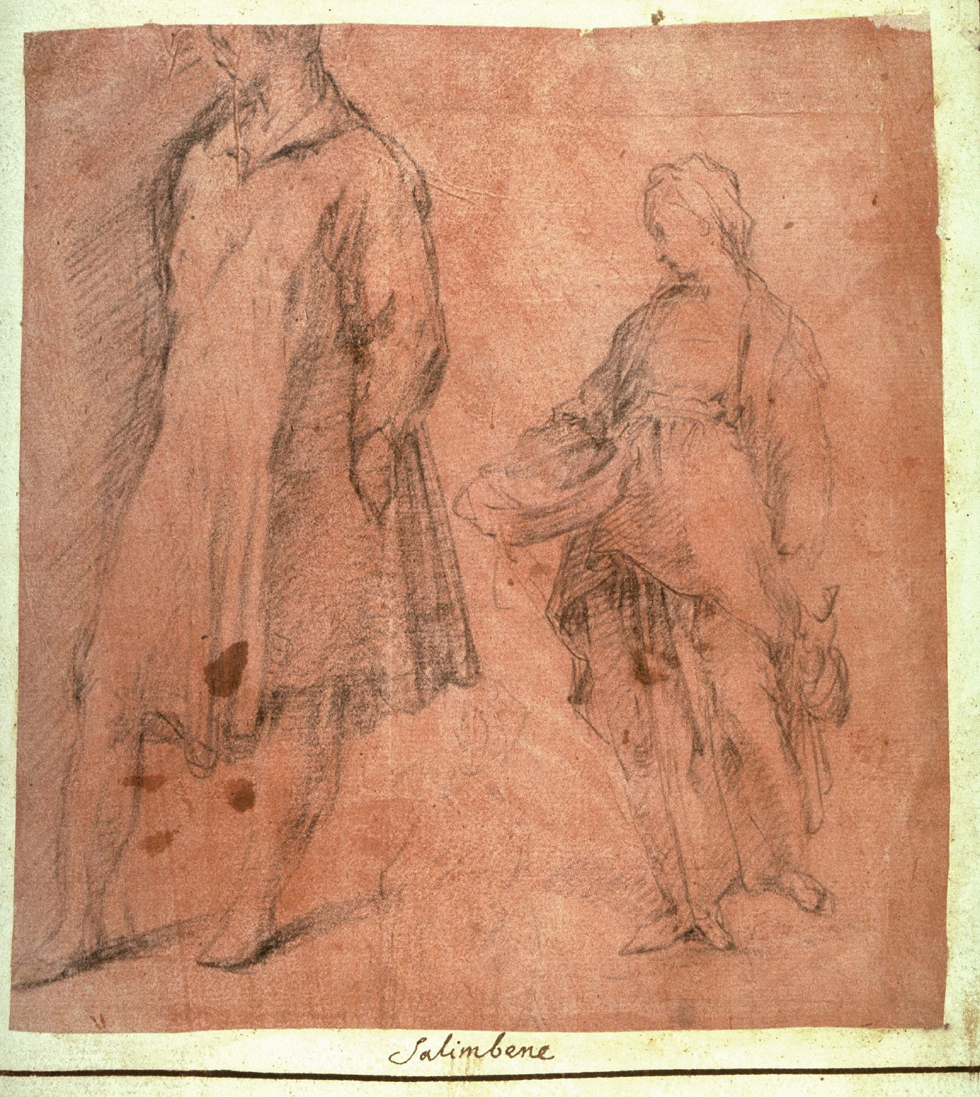 Recto: Studies of a Male and a Female Standing Figure Verso: Seated Female Figure