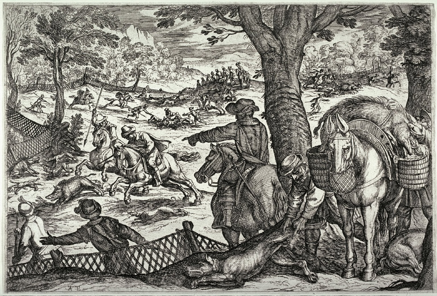 Boar Hunt, from the series Hunting Scenes VII