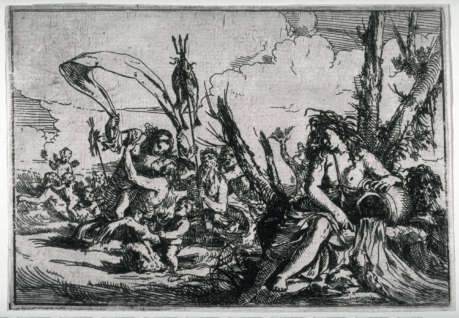 Earth (Cybele with Cupid and Animals) from the series, Allegories of Four Elements