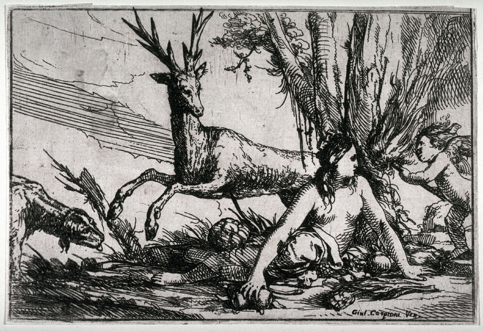 Water (A Naiad with a water urn and Tritons) from the series, Allegories of Four Elements