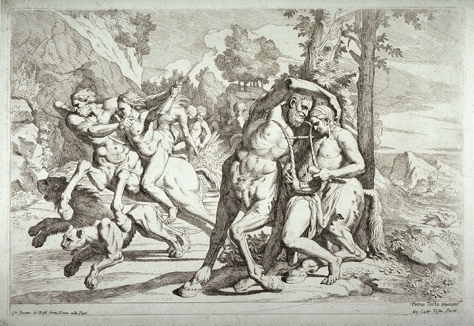 Achilles on the back of the Centaur Chiron