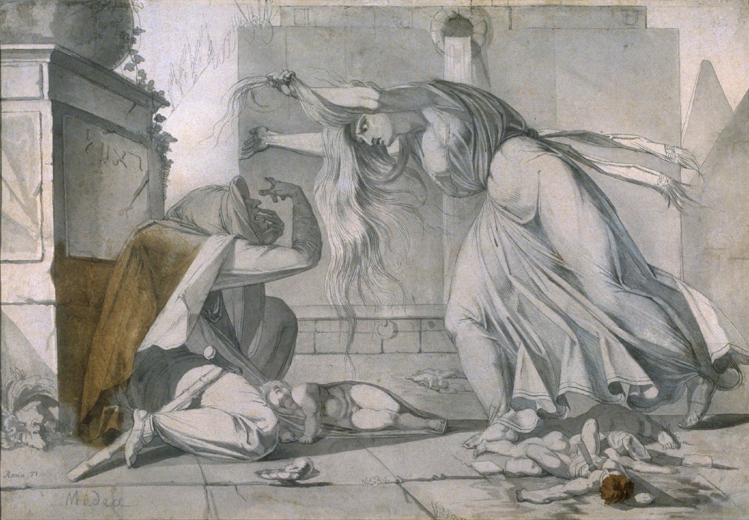 [Bereaved Mother Mourning After the Massacre of the Innocents, An Assassin Fleeing]