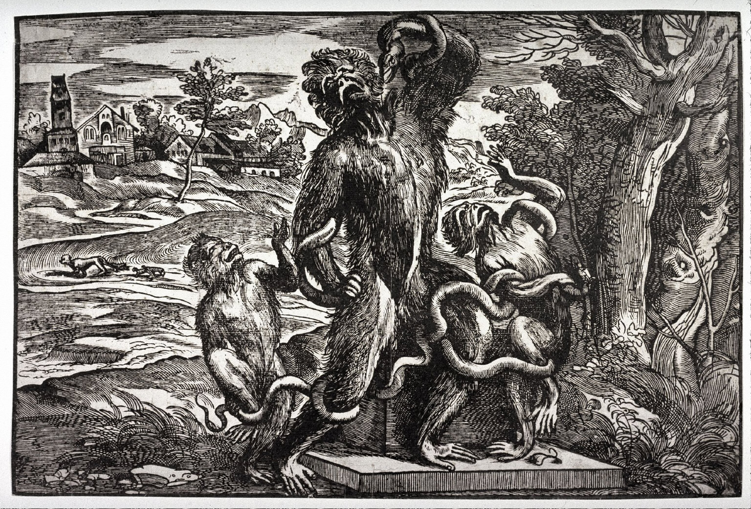 Caricature of the Laocoon, possibly after Titian