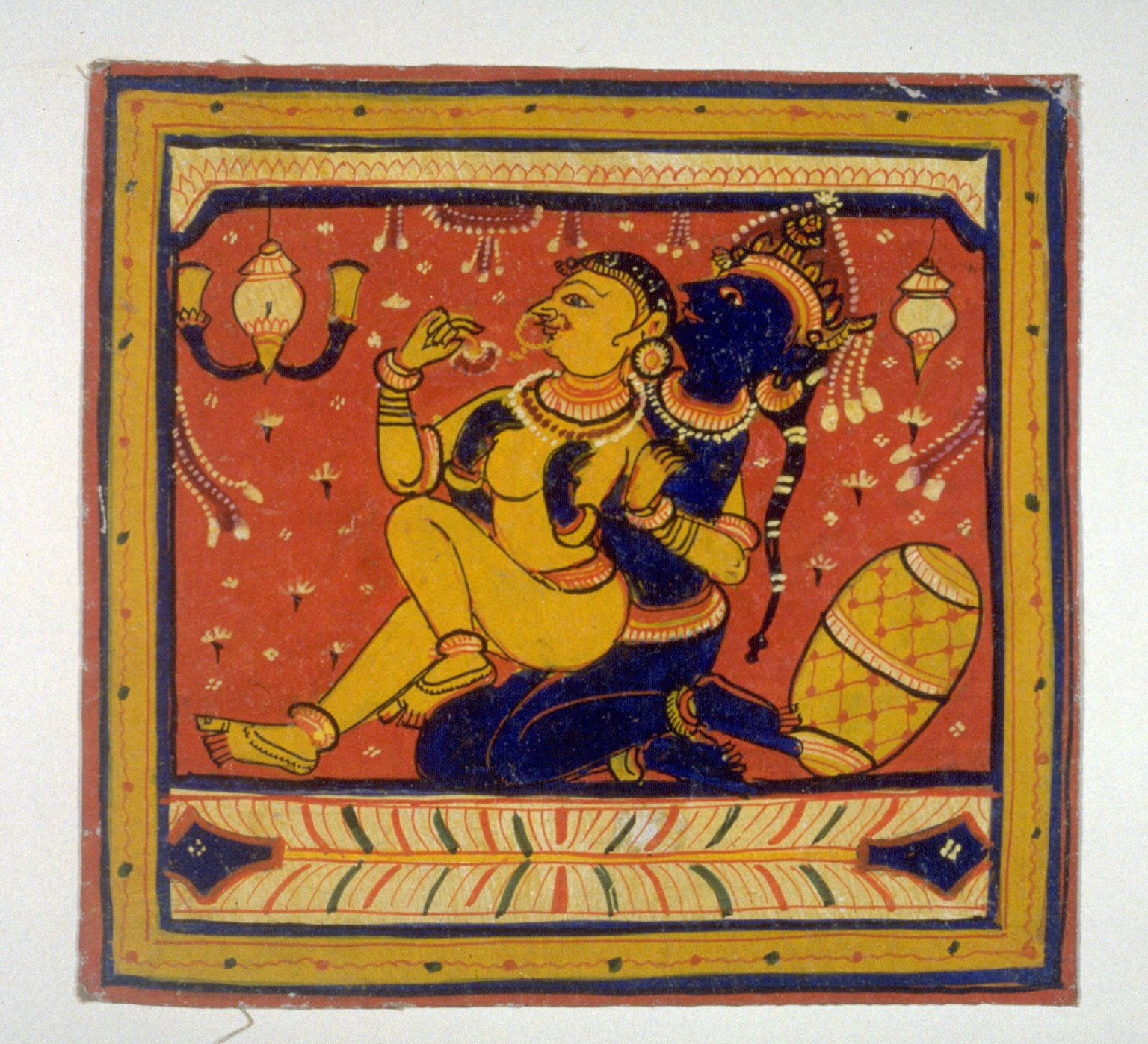 Krishna and a woman, from an unidentified series