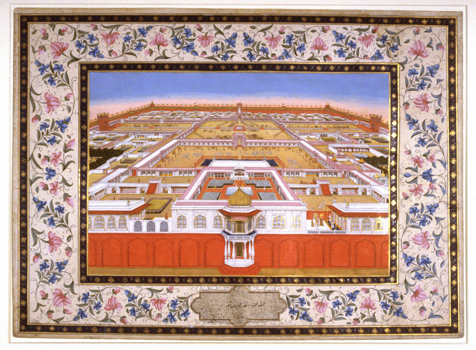 The Fort and Royal Palace of Shah Jehan, a page from the Lady Coote Album