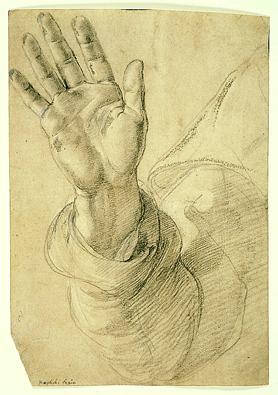 Study for Saint Peter: Upraised Right Hand, with Palm Facing Outward
