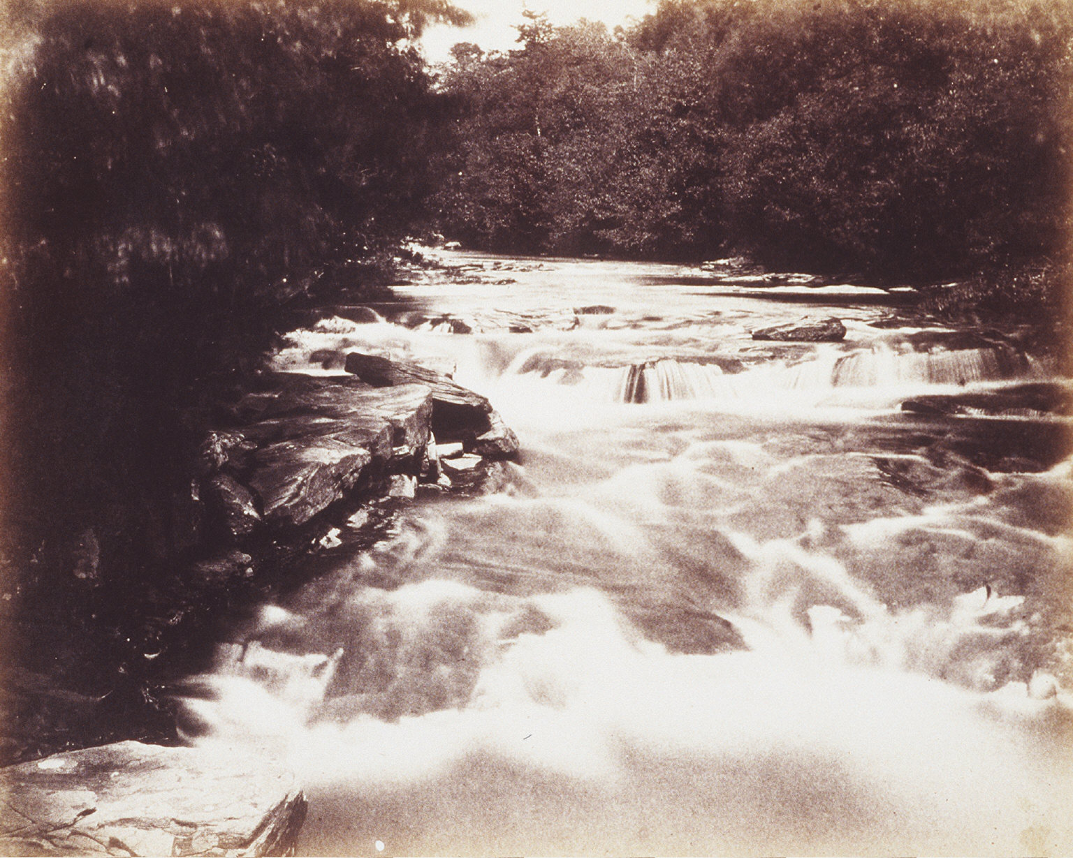 River Dulais. Near Ynysygerwn, one of his homes in South Wales. 1852. Calotype.
