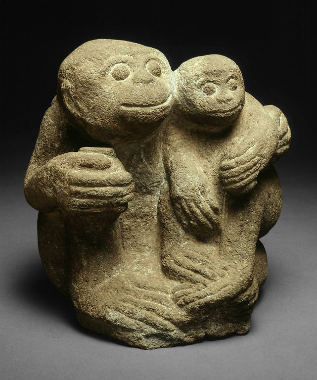 Simian Mother and Child