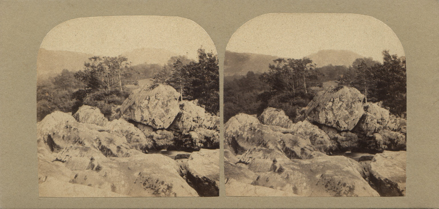 Rocks in the Lledr, North Wales