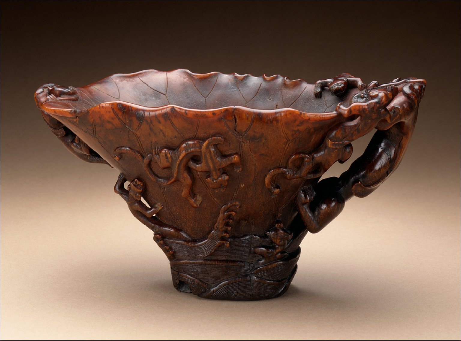 Cup (Guang) with Dragons in Waves