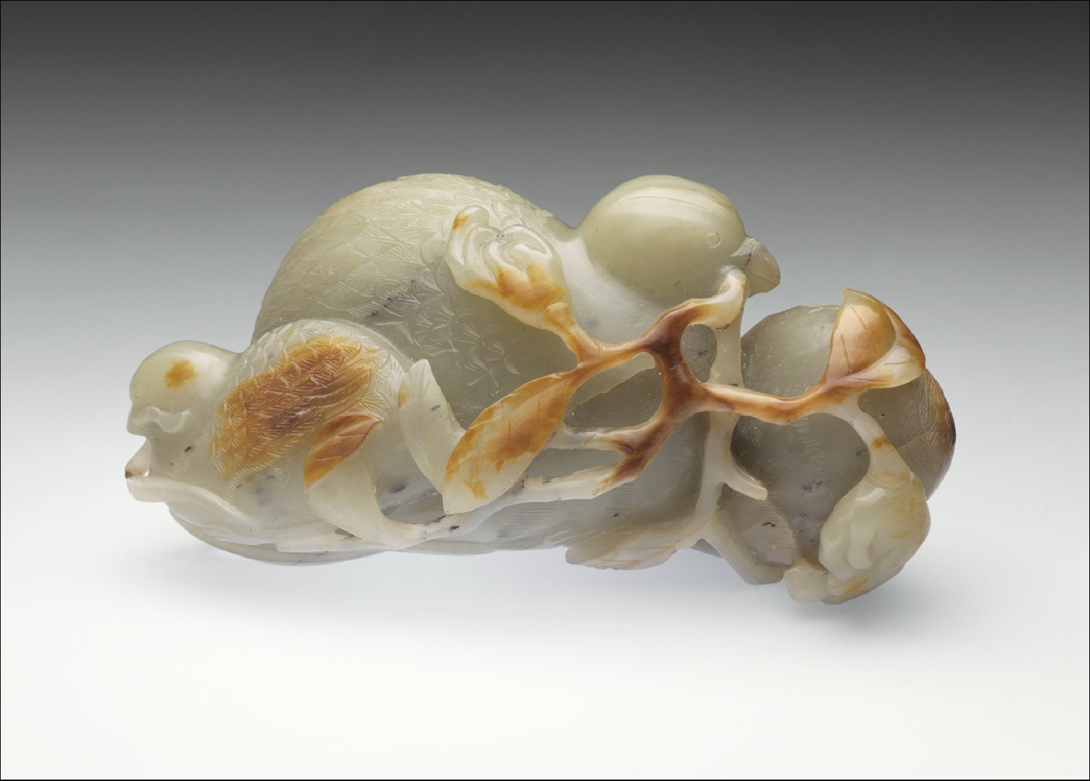 Quails with Branches of 'Buddha's Hand' (Foshou) and Flowers