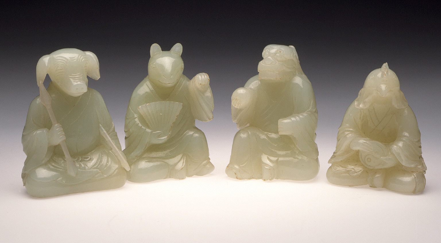 Hare, Dragon, Rooster, and Boar from the Animals of the Twelve-Year Chinese Zodiac (Shengxiao)