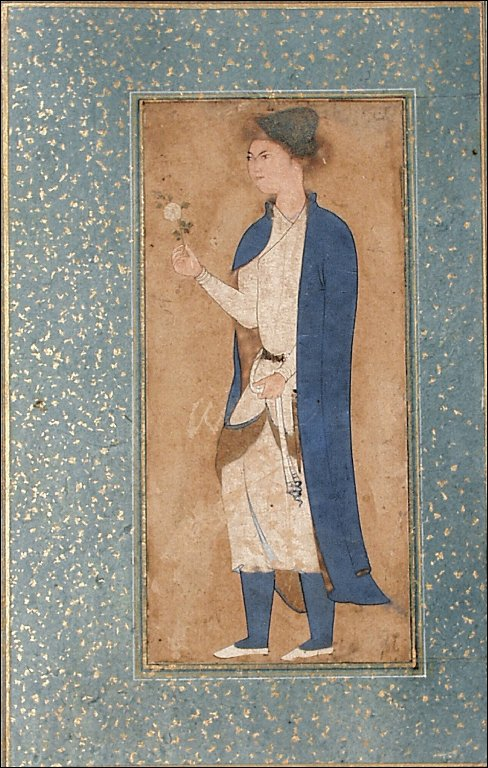 Portrait of a Youth in Blue with a Fur Hat