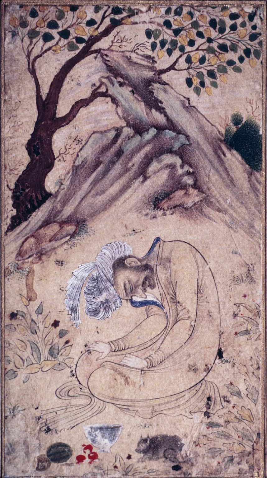 A Sufi in Ecstasy in a Landscape