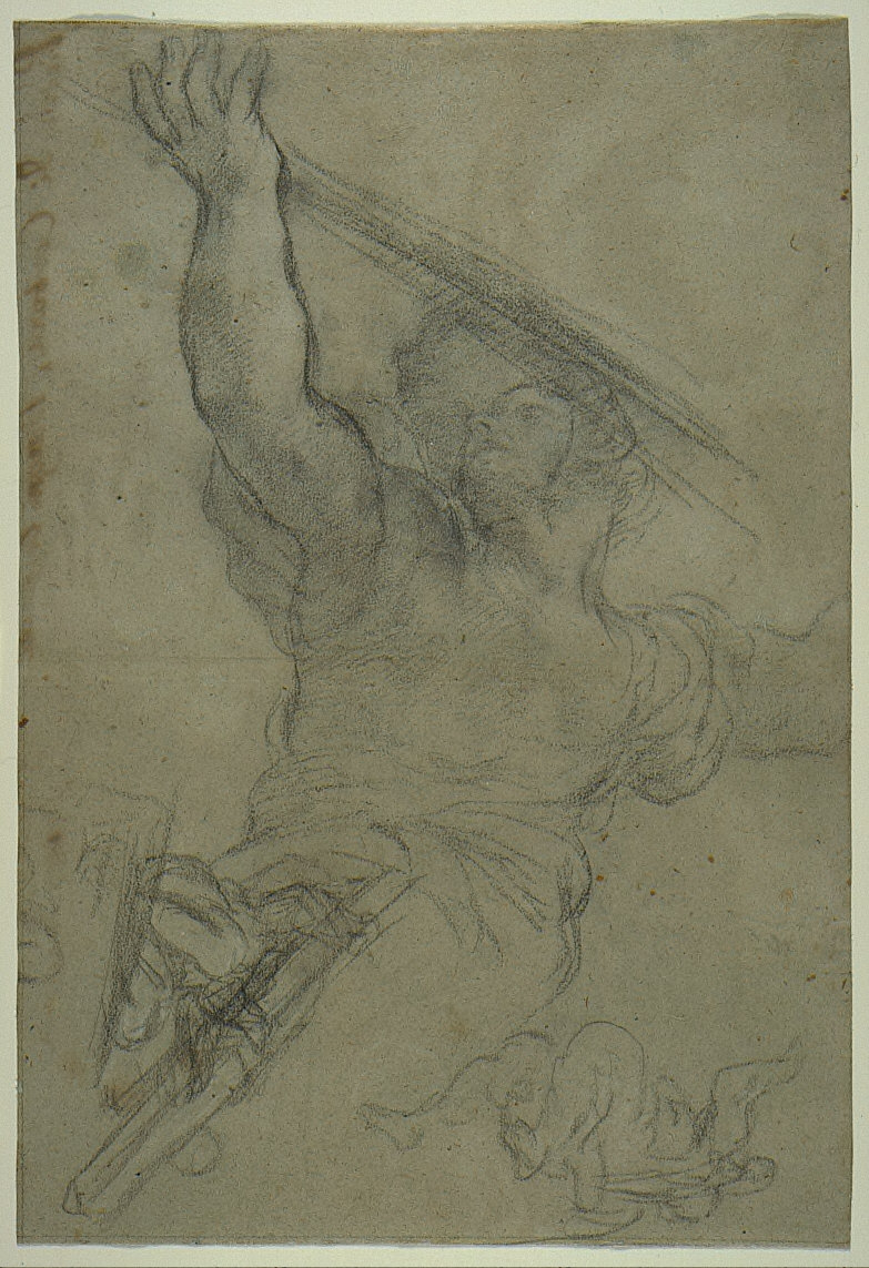 Study of a Male Figure with Right Arm Raised